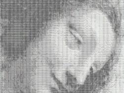 Der Kopf der Jungfrau von Leonardo da Vinci