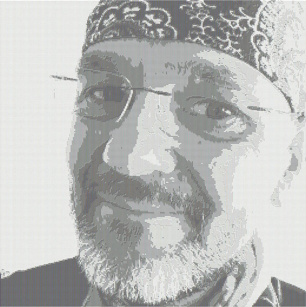Matthias M. Meringers Selbstportrait als ASCII-Bild