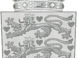 Wappen Dänemark als ASCII-Bild