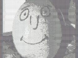 Ei mit Gesicht als ASCII-Bild